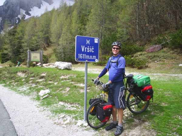 Wally at the top of Vršič pass