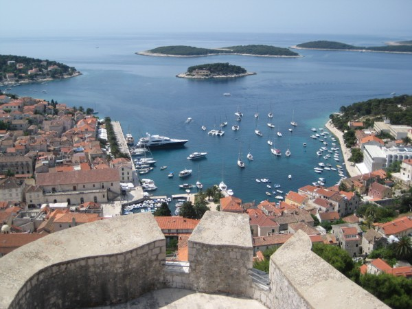 View of Hvar from the castle