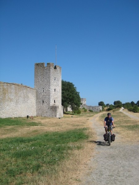 Outside the Visby town wall