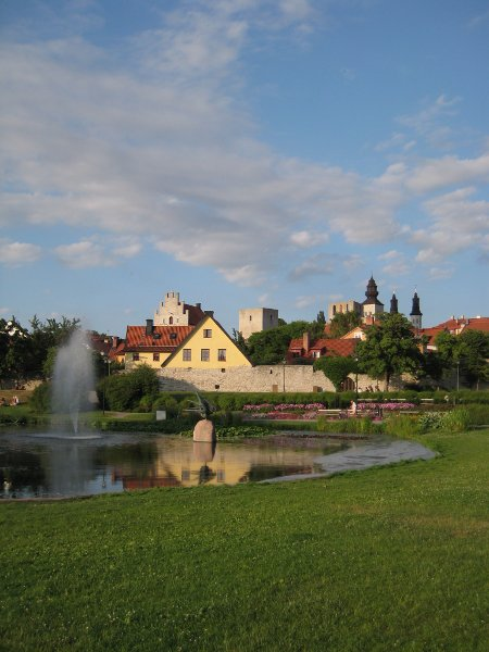 View of Visby from the park